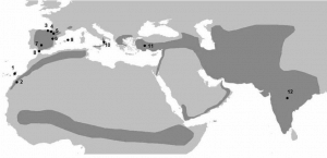 The geographical range of Egyptian vulture
